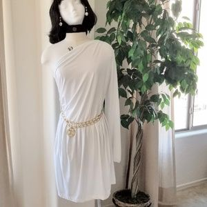 Baby Phat One Shoulder Dress with FREE Gift Belt